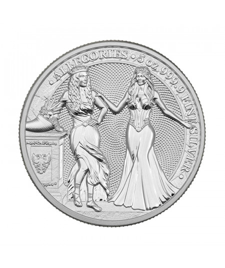 5oz Italia & Germania Silver Coin from 2020 - The Allegories serie