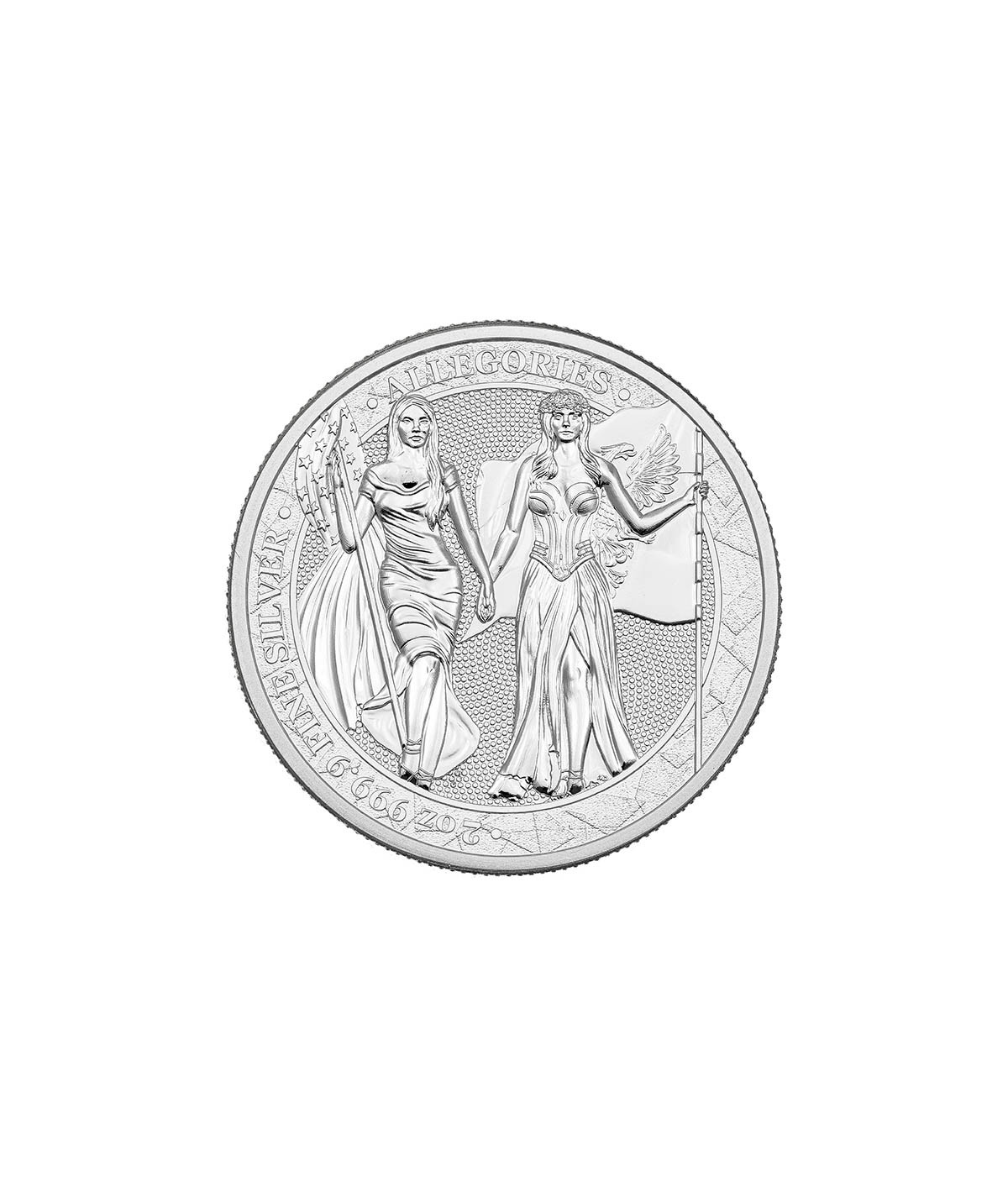 2oz Columbia & Germania Silver Coin from 2019 - The Allegories serie