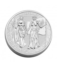 5oz Columbia & Germania Silver Coin from 2019 - The Allegories serie