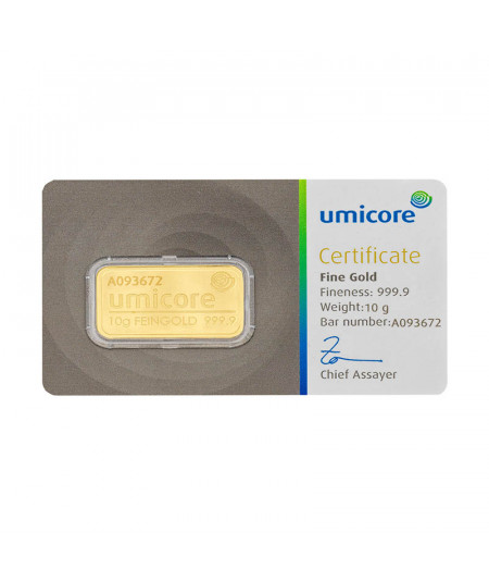 10g Umicore Gold Bar - Minted