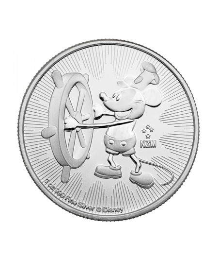 1oz Mickey Mouse Steamboat Willie Silver Coin from 2017- Disney Serie