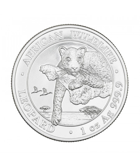 1oz Leopard Silve Coin from 2020 - African Wildlife Serie