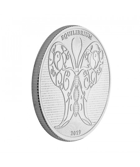 1oz Equilibrium Butterfly Silver Coin from 2019