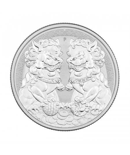 1oz Double Pixiu Silver Coin from 2020