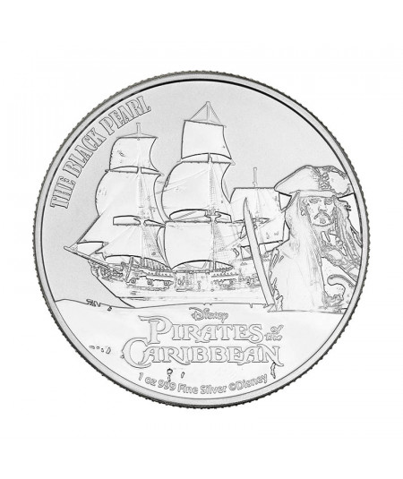 1oz Black Pearl Silver Coin from 2021 - Pirates of the Caribbean