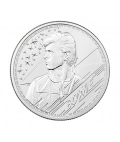 1oz David Bowie Silver Coin from 2021 - Music Legends series