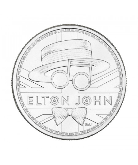 1oz Elton John Silver Coin from 2021 - Music Legends series