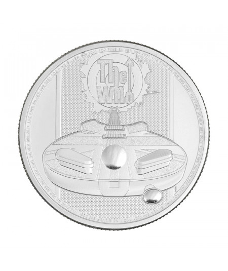 1oz The Who Silver Coin from 2021 - Music Legends series