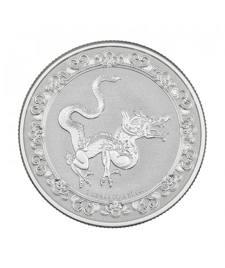 1oz Yellow Snake Silver Coin from 2020 - Celestial Animals