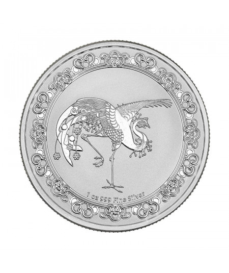 1oz The Red Phoenix Silver Coin from 2020 - Celestial Animals
