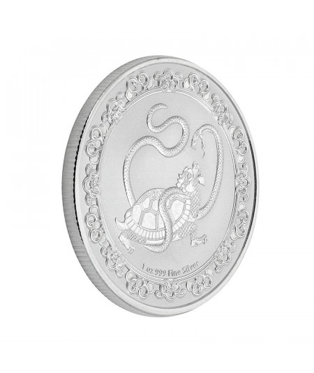 1oz The Black Turtle Silver Coin from 2021 - Celestial Animals