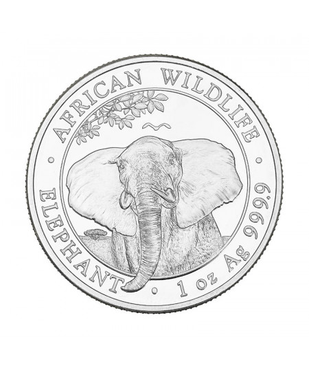 1oz Elephant Silver Coin from 2021 - African Wildlife