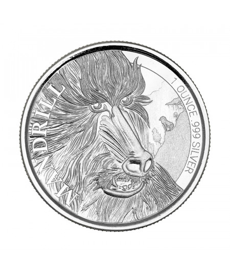 1oz Mandrill Silver Coin from 2020