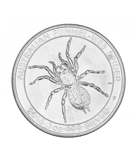 1oz Funnel-Web Spider Silver Coin from 2015