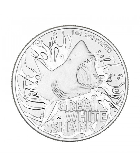 1oz Great White Shark Silver Coin from 2021