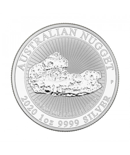 1oz Hand of Faith Nugget Silver Coin from 2020