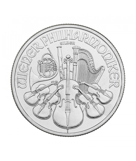 1oz Vienna Philharmonic Silver Coin from 2019