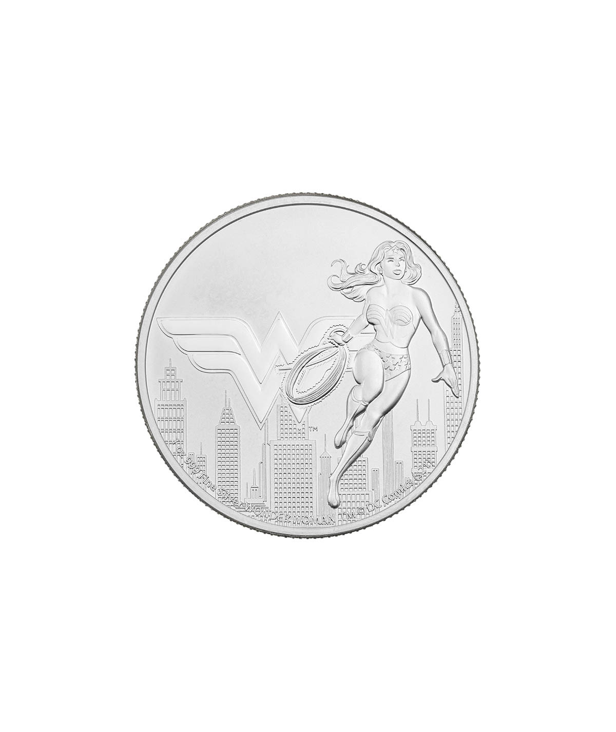 1oz Wonder Woman Silver Coin from 2021 - DC Comics Justice