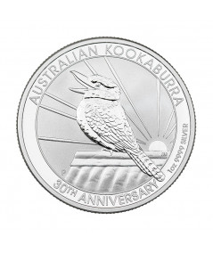 1oz Silver Coin Kookaburra from 2020 - Special 30th anniversary edition