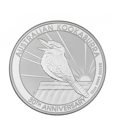 10oz Silver Coin Kookaburra from 2020 - Special 30th anniversary edition