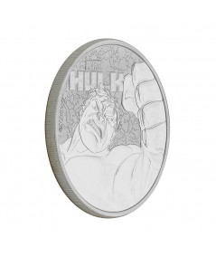 1oz Silver Coin Hulk from 2019 - Marvel Comics series