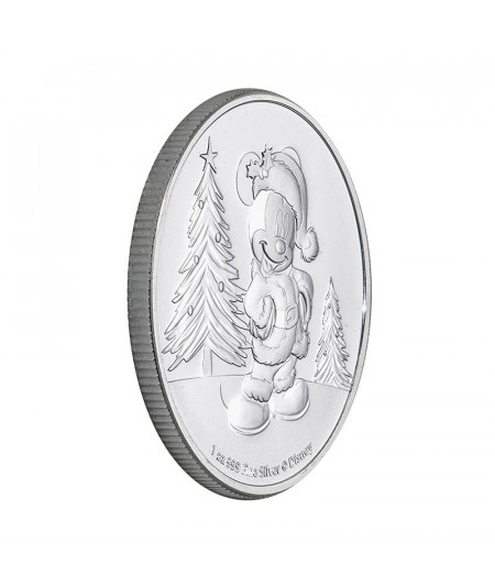 1oz Silver Coin Mickey Mouse Christmas from 2019 - Disney series