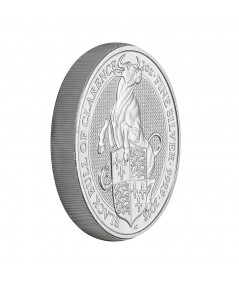 2oz Silver Coin Black Bull of Clarence from 2018 - Queen's Beasts series
