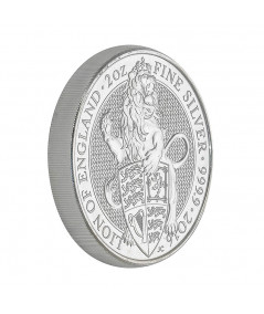 2oz Silver Coin Lion of England from 2016 - Queen's Beast series