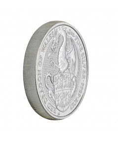 2oz Silver Coin Dragon of Wales from 2017 - Queen's Beasts serie