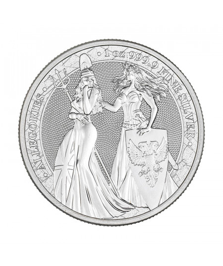 1oz Silver Coin Britannia y Germania from 2019 - The Allegories serie