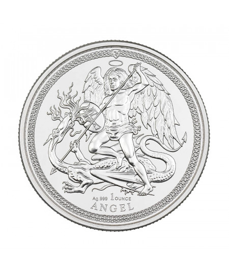 1oz Silver Coin Isle of Man Angel from 2018 - Isle of Man Series