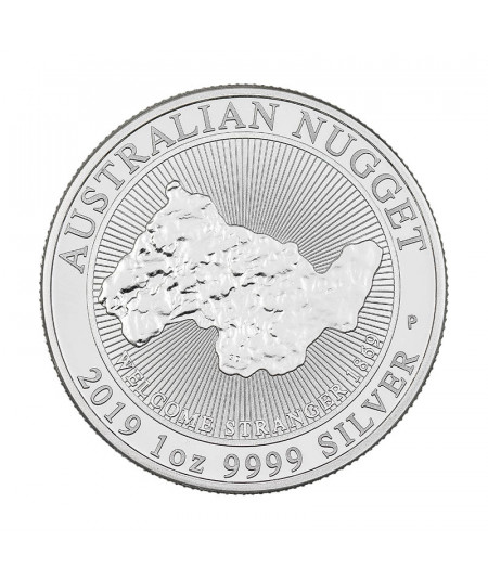 1oz Silver Coin Australian Nugget Welcome Stranger from 2019