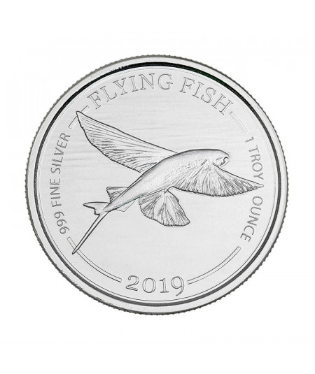 1oz Silver Coin Flying Fish from 2019
