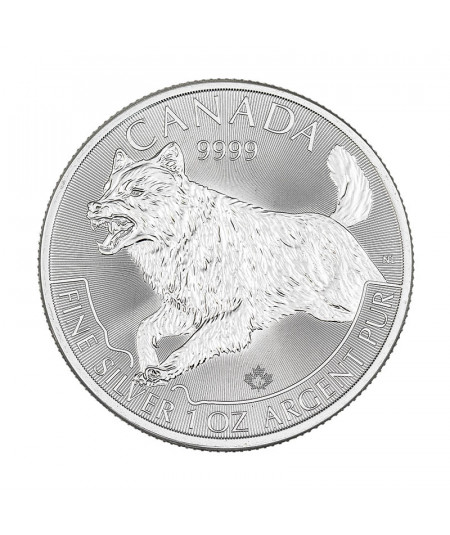 1oz Silver Coin Canadian Wolf from 2018 - Predator Series
