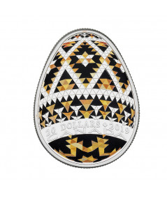 1 oz Silver Pysanka Egg coin from 2019 - Special Edition