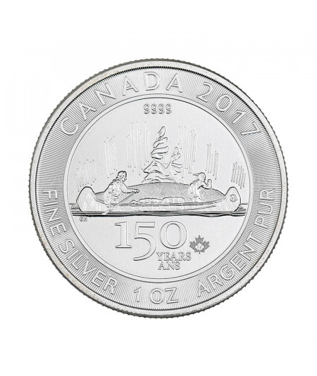 1 oz Silver Voyageur coin from 2017