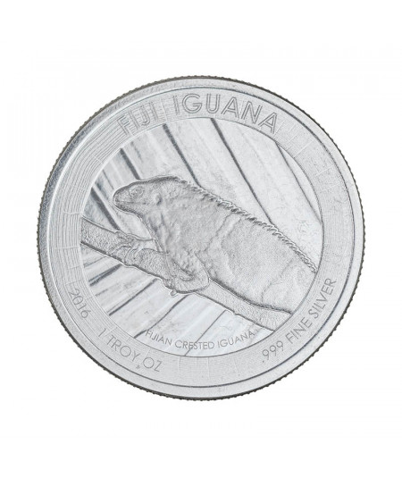 1oz Silver Coin Fiji Iguana from 2016 - Special numbered edition