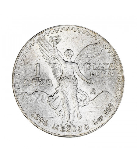 Mexican Liberty 1 oz silver coin from 1985