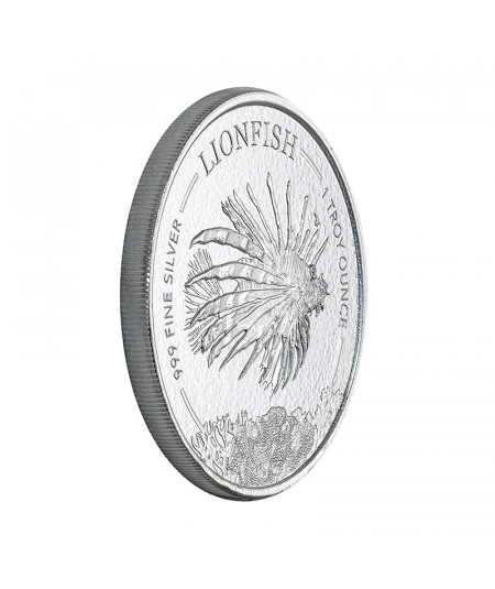 1oz Silver Coin Barbados Lionfish from 2019
