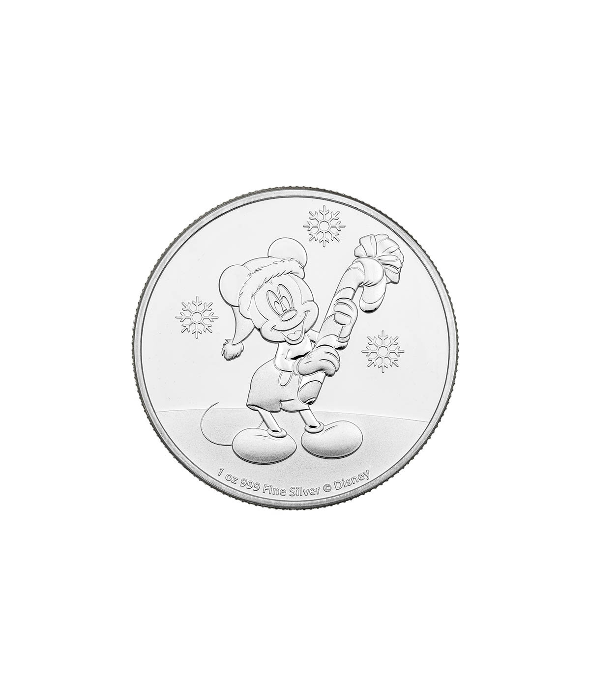 1oz Silver Coin Mickey Mouse Christmasfrom 2020 - Disney series