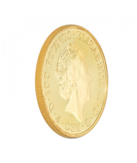1oz Gold Coin White Horse of Hanover from 2020 - Queen's Beasts Serie
