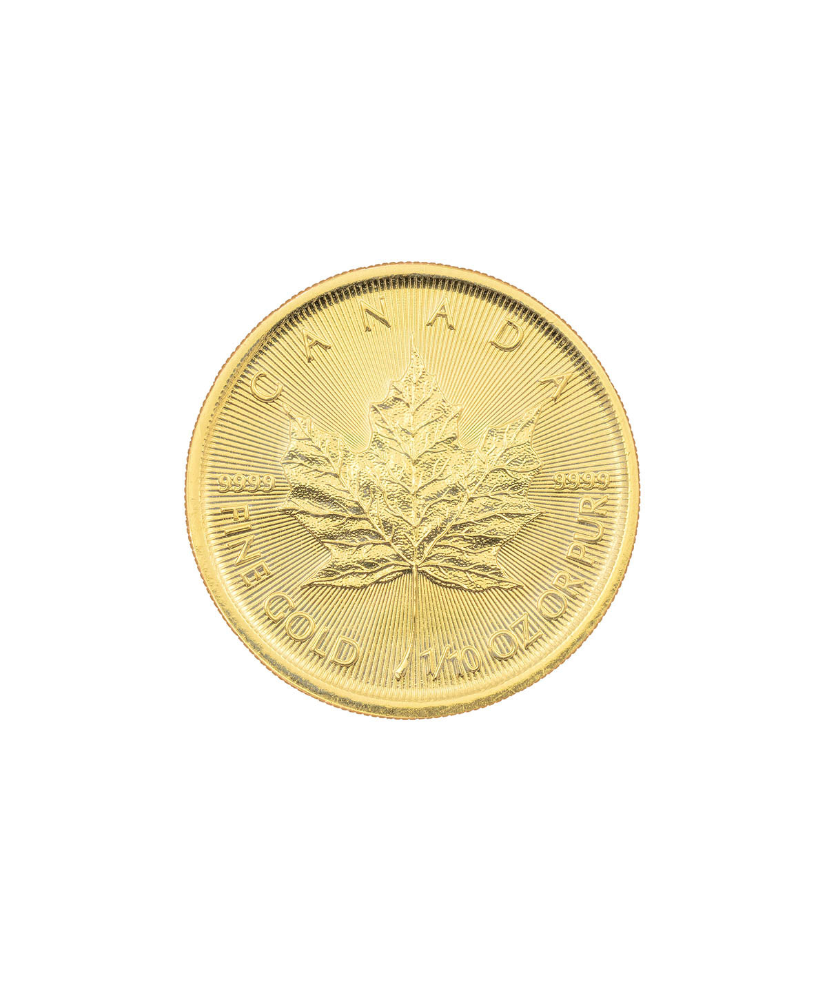 1/10oz Gold Coin Maple Leaf from 2017