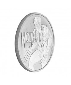 1oz Silver Coin Wolverine from 2021 - Marvel Comics Series