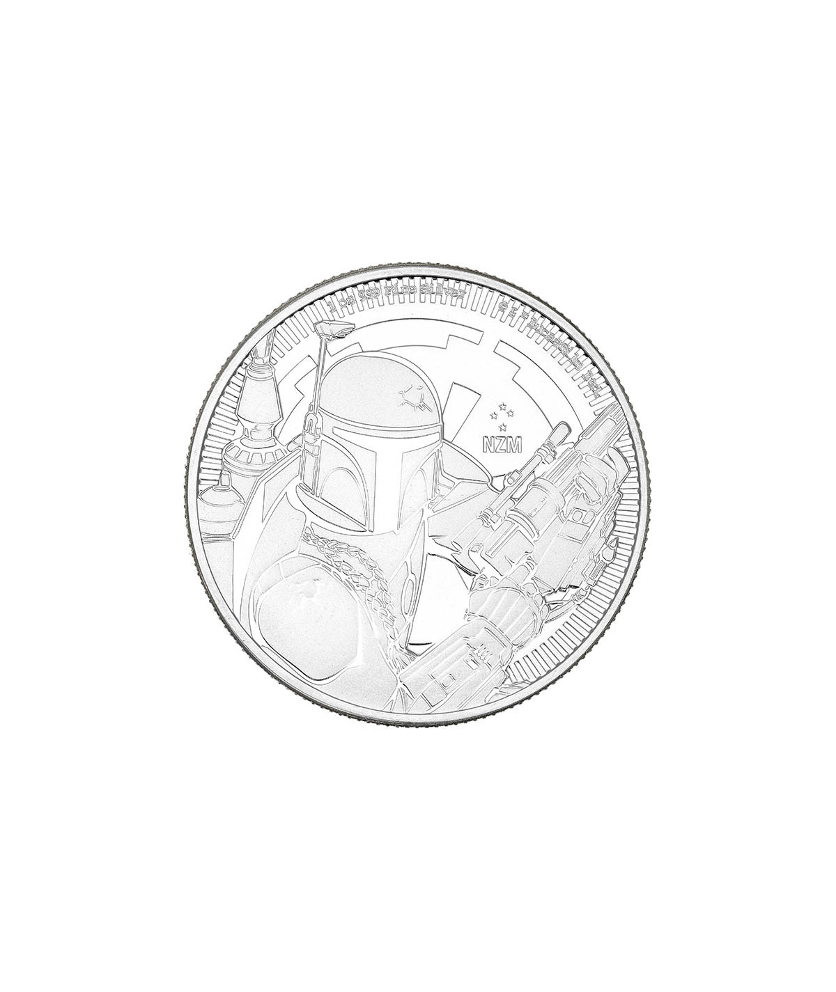 1oz Silver Coin Boba Fett from 2020 - Star Wars Series