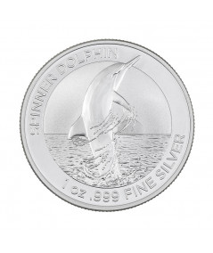 1oz Silver Coin Spiner Dolphin from 2020