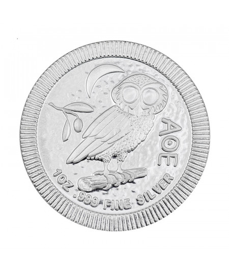 1oz Athenian Owl Silver Coin from 2019