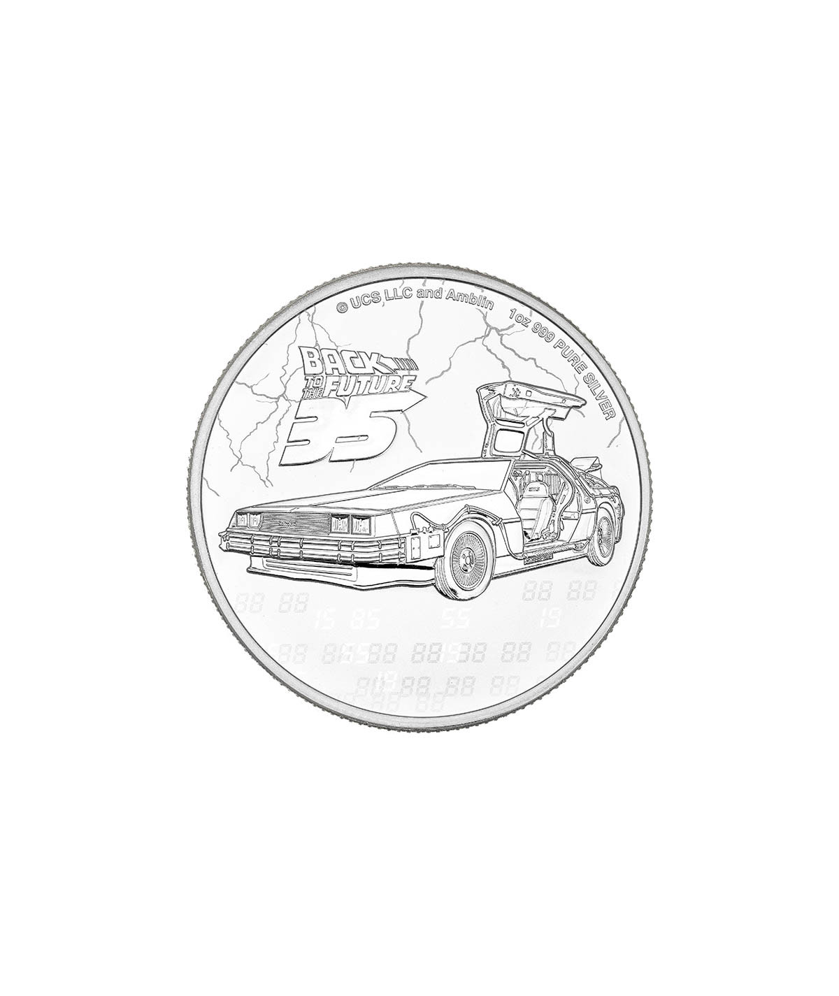 1oz Back to the Future Silver Coin from 2020 - 35th Anniversary Edition