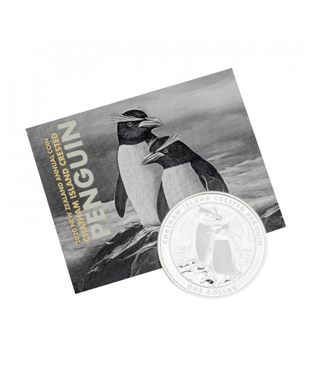 1oz Chatham Crested Penguin Silver Coin from 2020