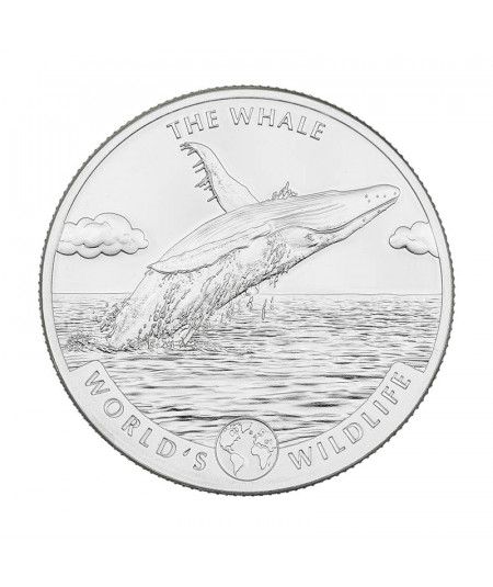 1oz The Whale Silver Coin from 2020 - World's Wildlife Serie