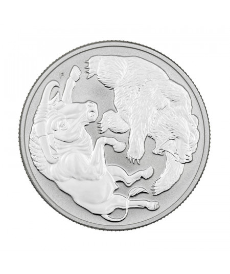 1oz Bull and Bear Silver Coin from 2020